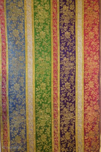 Ottoman silk-metalthread brocade,second half 19th cent.Cm.48x134,with original selvadges,good condition.
