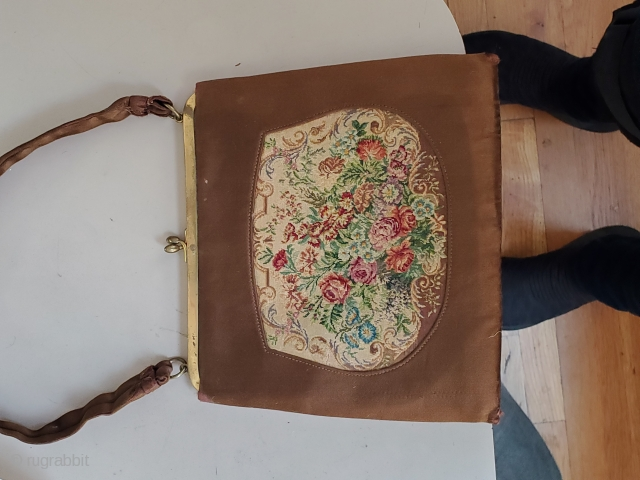 This lovely purse was hand stitched in France, circa 1900! Still in prime condition this piece is a rare find.