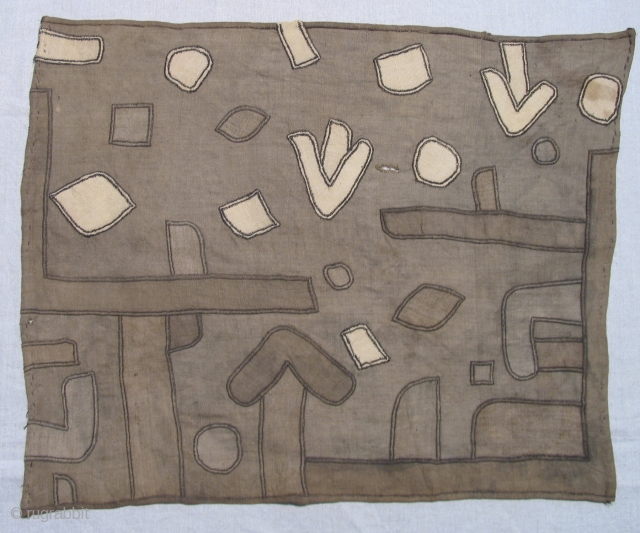 Kuba Applique panel.  Old. Size:19 x 24 inches.
