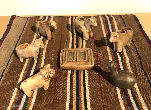 The animal increase rite is an ancient indigenous ritual that has been practiced on the high altiplano of the Bolivian Andes for millennia. These small alabaster figures were carved by indigenous Aymara  ...