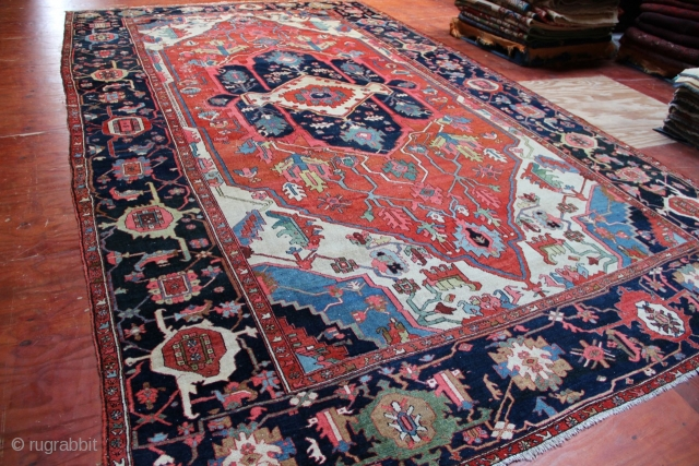 "Superb, massive Serapi carpet, 19th century, approx. 18' x 10'3"". Please contact for more pictures, condition and pricing information."