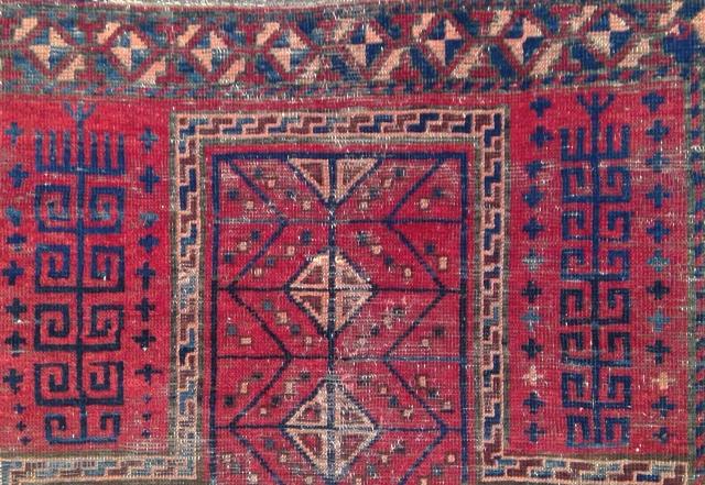 Taimani Aimak niche rug, very Turkmen-like.