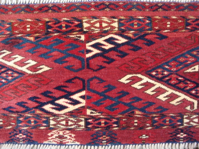 Exemplary 19th century Turkmen torba trapping, excellent condition