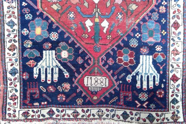 Highly unusual 19th century Karabagh prayer rug, possibly Armenian work