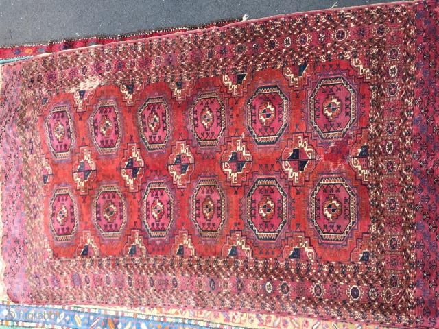 Turkmen/tekke carpet Size 210/145 cm