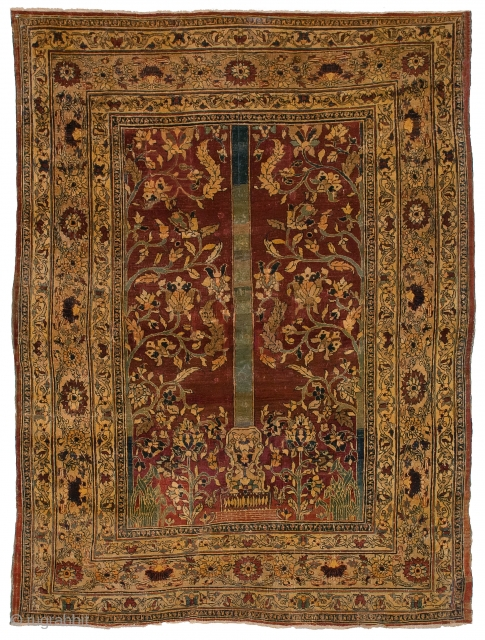 Antique	Persian Heriz/Tabriz wool,