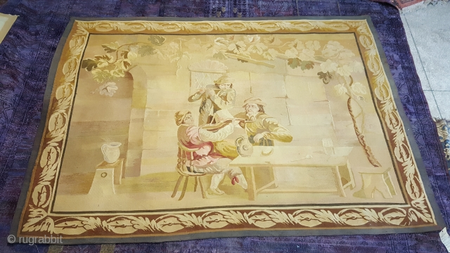 European 19 century Tapestry 2.00 x 1.50 m perfect condition