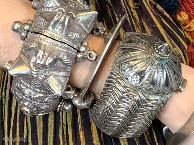 Antique silver bracelets , India sold separately