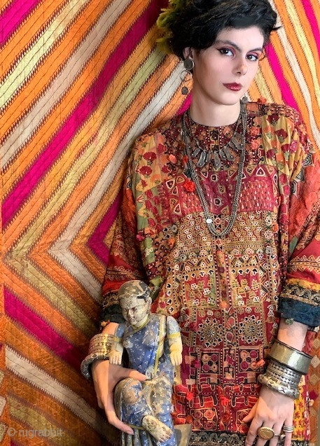 Very early and good embroidery original blouse from Pakistan , Sindh area , early 20the c