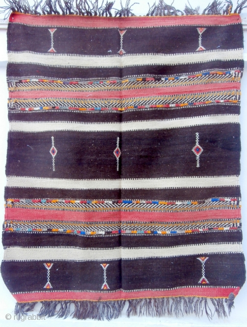 MOROCCAN BERBER HIGH ATLAS HORSE COVER. The Berbers of this harsh, high region weave rugs and other textiles for wear, furnishing, storage and to decorate their animals. Many families will have these  ...