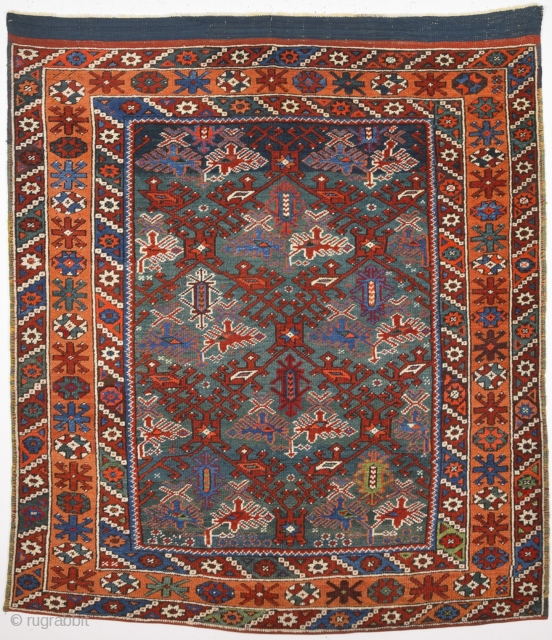 19th Century Bergama Rug Size 120 x 145 cm.It's in perfect condition and untocuhed one.