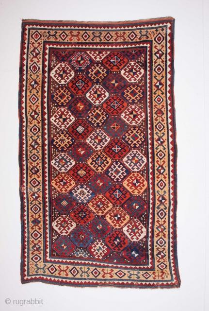 19th Century Caucasian Rug Size 155 x 265 Cm.It has really good pile.