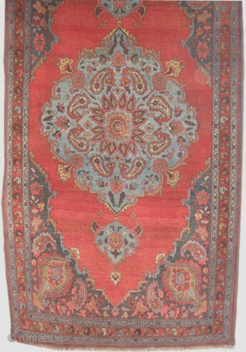 """Bidjar Halvai Persian knotted circa in 1920 antique,  265 x 140 (cm) 8' 8"""" x 4' 7""""  carpet ID: K-4068 The black color is oxidized, the knots, the warp and the  ..."""