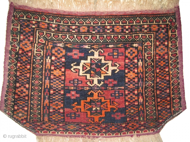 "Horse cover Belutch Persian circa 1935, Size: 56 x 38 (cm) 1' 10"" x 1' 3""  carpet ID: CBU-3