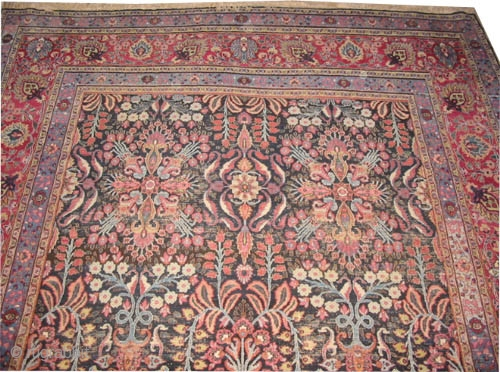 "Mashad Persian circa 1915 antique, Size: 456 x 317 (cm) 14' 11"" x 10' 5""  carpet ID: P-5742