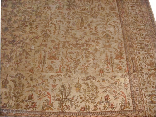 """Tabriz Persian circa 1925 Semi-antique and signed. Size: 533 x 375 (cm) 17' 6"""" x 12' 4""""   carpet ID: P-1114 The knots are hand spun lamb wool, high pile, good condition, all  ..."""