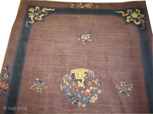 "Beijing Chinese carpet circa 1920 antique. Size: 350 x 268 (cm) 11' 6"" x 8' 9"" 