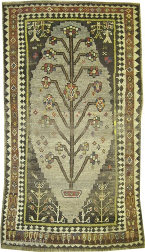 "Gabbeh Nomad Persian circa 1915, Size: 207 x 118 (cm) 6' 9"" x 3' 10"" CarpetID: K-1367