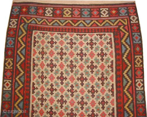 Bidjar kilim Persian semi antique, collector's item, Size: 396 x 154 (cm) 13'  x 5' 1"