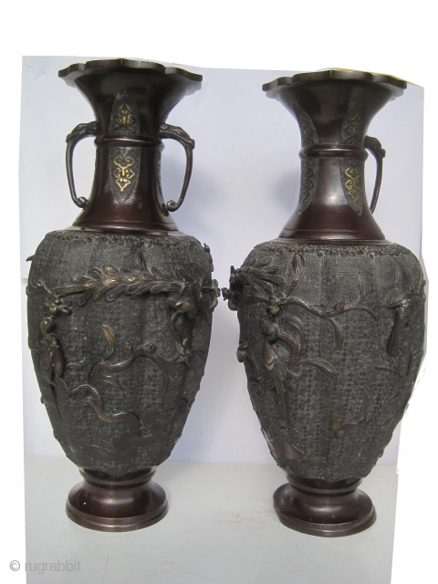 "European vases circa 1870 antique, collector's item, Size: 46 x 20 (cm) 1' 6"" x 8""  carpet ID: FR-4 