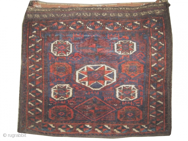 "Belutch Persian circa 1905 antique. Collector's item, Size: 64 x 55 (cm) 2' 1"" x 1' 10"" , carpet ID: K-4782 