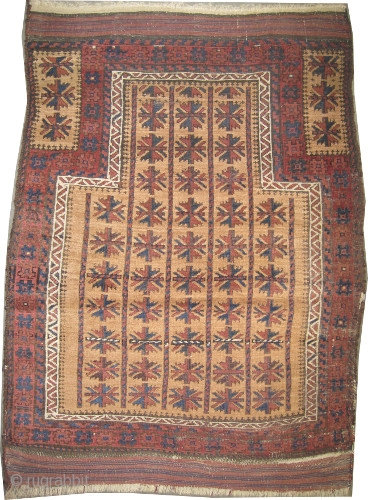 "Belutch prayer Persian, circa 1880, antique. Collector's item, Size: 102 x 87 (cm) 3' 4"" x 2' 10"" carpet ID: K-1112 