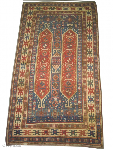 "Anatolian Konya knotted circa in 1880 antique. Collector's item. Size: 240 x 130 (cm) 7' 10"" x 4' 3""  CarpetID: H-414 