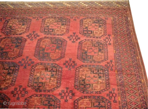"Ersari Afghan knotted circa in 1925 semi antique, Size: 720 x 331 (cm) 23' 7"" x 10' 10""  carpet ID: P-5019