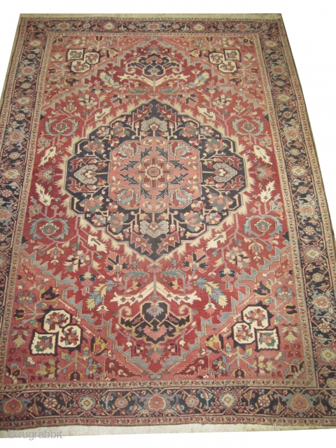 """Serapi Heriz Persian, knotted circa in 1915 antique, Size: 345 x 250 (cm) 11' 4"""" x 8' 2""""  carpet ID: P-5181 High pile in perfect condition."""