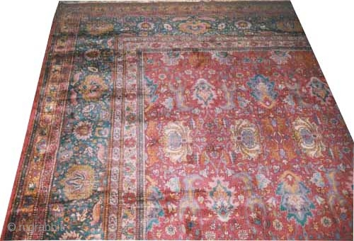 "Sarouk carpet. Size: 755 x 455 (cm) 24' 9"" x 14' 11""