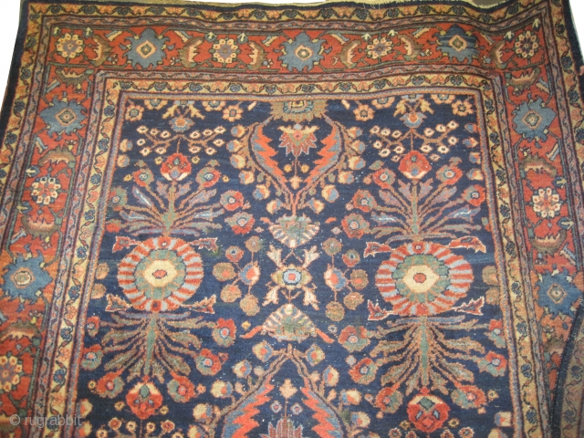 """Ziegler Mahal Persian circa 1910 antique, Size: 343 x 257 (cm) 11' 3"""" x 8' 5""""  carpet ID: P-4773 All over design, vegetable dyes, high pile, the knots are hand spun  ..."""