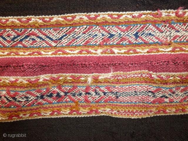 Child poncho, Aymara, Bolivia, mid 19th.cent., beautiful colours, wonderful wool, 97 x 84 cm, 3.2 x 2.9 ft.
