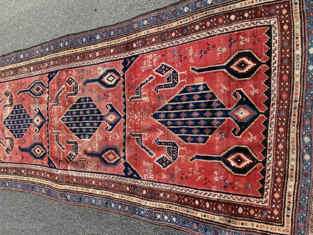 Antique luri Persian rug 3.4x8.9 approx 