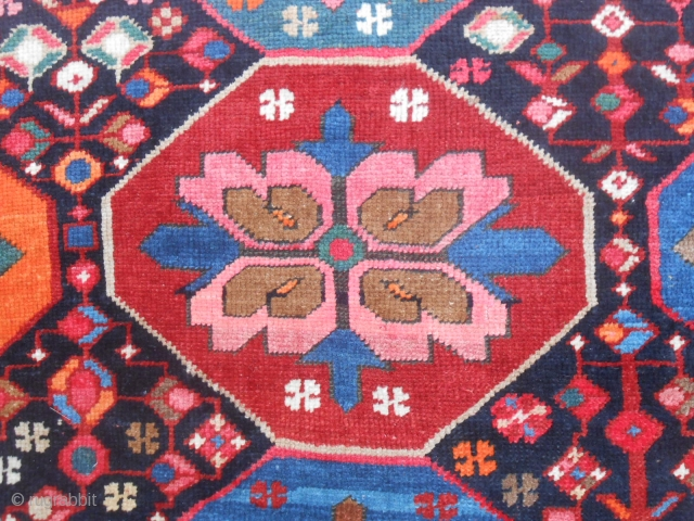 370 x 169 cm ANTIQUE CAUCASUS KARABAGH ARMENIBAFF. In perfect condition Bejinning XX th century. Wool on wool. Other info or photos on request.  WARM REGARDS  from Lake of COMO !