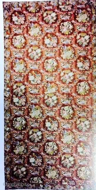 English Needlepoint(gross point) 14'x30' Very neat and clean Custom made by Doris Leslie Blau provenance:Robert Wood Johnson IV