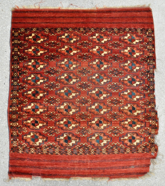 Tekke Wedding rug, soft velvet like pile, floppy handle, tight weave and amazing colors - the blue looking color is actually a deep green with hints of blue only - 3'5 x  ...