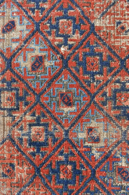 Early Baluch rug - 2'7 x 4'6 ft - 79 x 137 cm.
