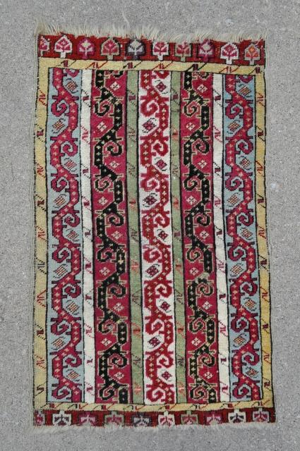 "Central Anatolian Yastik - 21"" x 34"" / 54 x 87 cm."