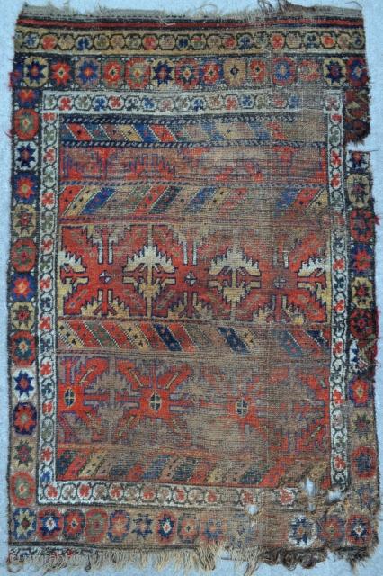 Old Kurdish rug - 3'7 x 5'4 - 109 x 163 cm. - reasonable!