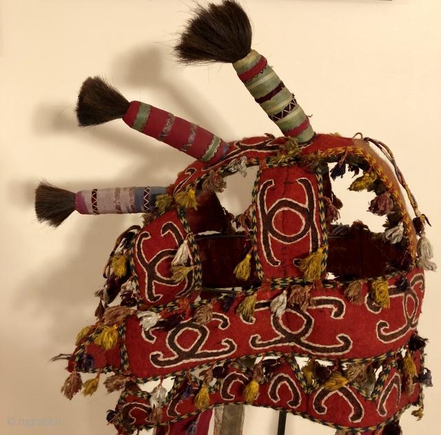 Central Asian camel Headdress!