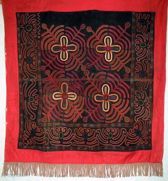 "Here is a very old Kirgiz ilgich which measures 36"" x 36"".