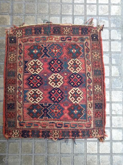 Antique Quch Kurd Sumak. Size 60x53