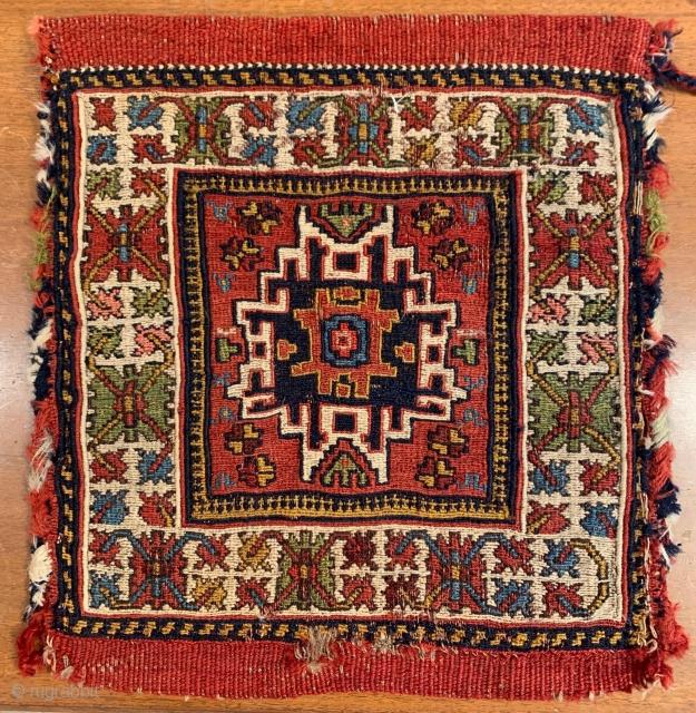 Shahsavan Sumac Bag with Lesghi Star Pattern, 2nd half 19th. Century.