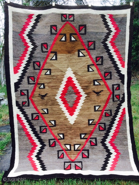 """Nice vintage Navajo measuring 4'x 5'7"""".  More pics available upon request."""
