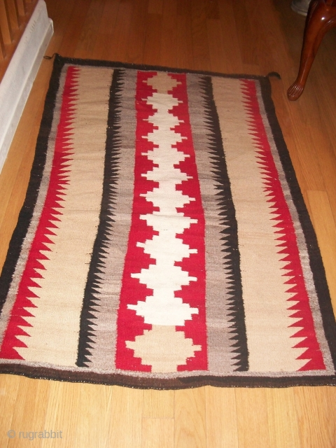 "The Rug Pickers find as found: Three vintage regional Navajo rugs in good condition that need nothing other than a new home!  1st one is 68""x 52"", 2nd one is 68""x  ..."