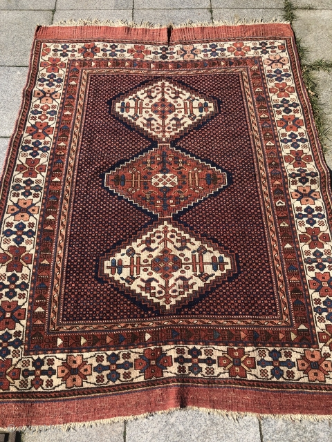 Wishing everybody good health during Corona crisis. A very nice antique Southpersian Afshar rug, 19th century, size: 175x127cm / 5'8''ft x 4'2''ft. Very nice collector´s piece.