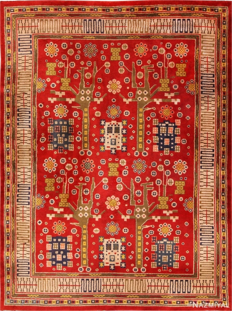 """:Vintage Pile Scandinavian rug , Circa 1950's. Size is 10'3"""" x 13'8' ( 3.12 M x 4.17 M ). This piece is included in our upcoming Feb 6th auction."""