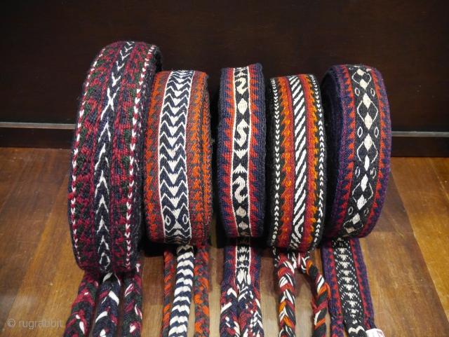 5 more mid 20th c Bakhtiari horse bands in excellent original condition.