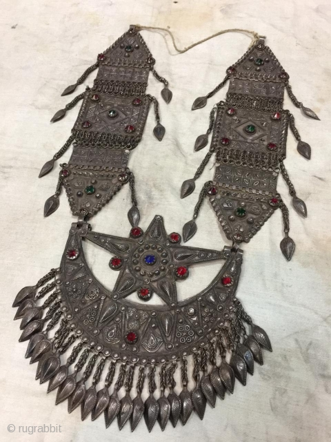 Tribal swat valley of Pakistan silver woman necklace.