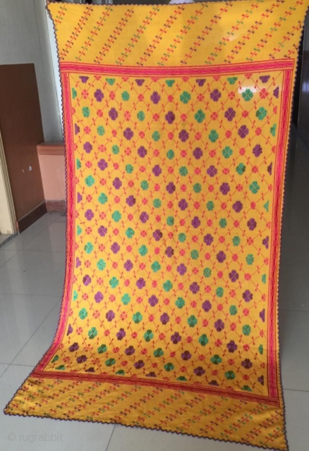 Swat valley woman shawl , The embroidery is handmade and done with silk threads. in it's best condition